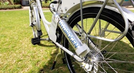 De eerste elektrische fiets op waterstof