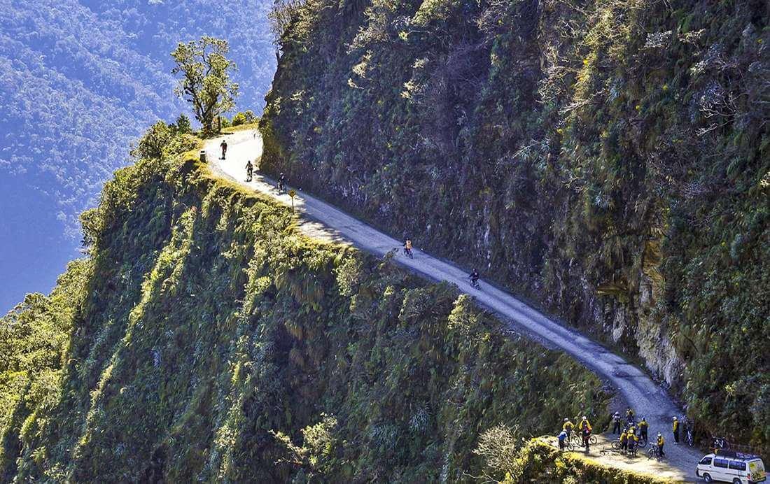De gevaarlijkste fietsroute: The Death Road