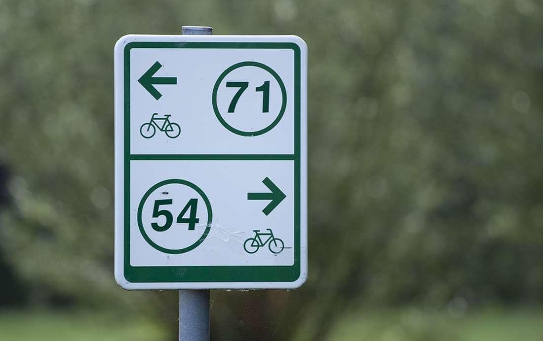 Een fietsroute plannen via fietsknooppunten