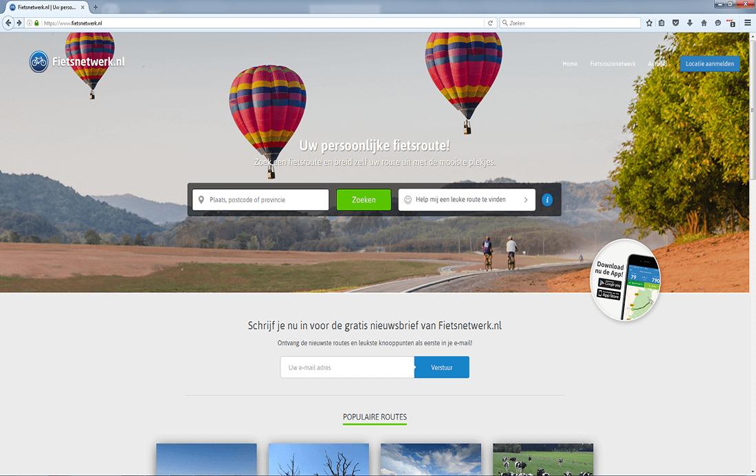 Website van Fietsnetwerk vernieuwd!