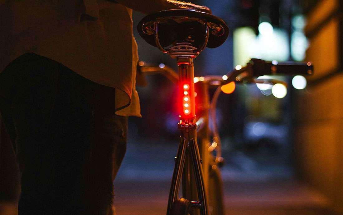 LED-zadelpen voor veilig fietsen in de winter