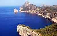 De kustlijn van Mallorca